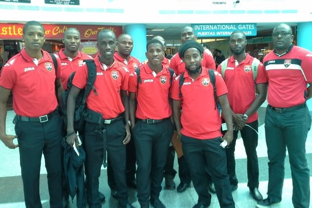 Photo shows : Left to right: Kerry Joseph, Cyrano Glen, Jerwyn Balthazar, Kevin Graham (GK), Jameel Neptune, Anthony Small, Ishmael Daniel, Bevon Bass, Geoffrey Edwards (President – Futsal Association of Trinidad & Tobago). Hidden behind J. Neptune is Colin Joseph. Missing is Adrian Pirthysingh (GK).