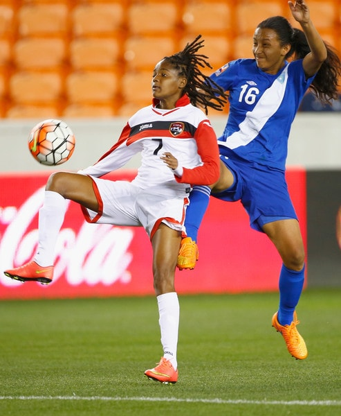 Kayla Taylor in a previous Qualifying match against Guatemala