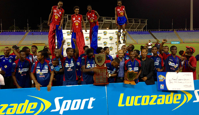 Marvin Phillip star as Morvant Caledonia reunites with Lucozade Sport Goal Shield after four years.