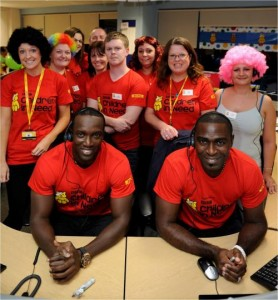 Dwight Yorke and Andy Cole (BBC Children in Need 2011)