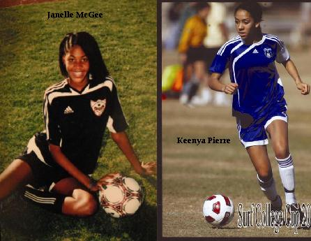 Janelle McGee and Keenya Pierre.
