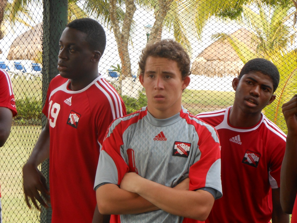 Johan Welch with his T&T teammates.