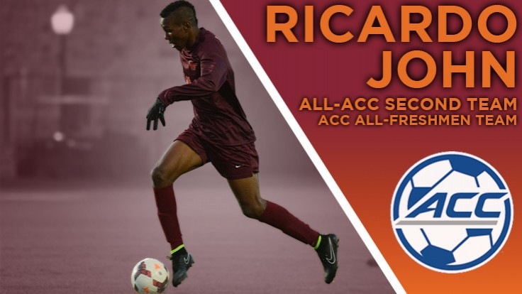Ricardo John earns All-ACC Second Team and ACC All-Freshmen distinctions