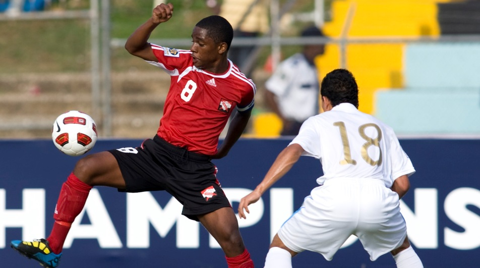 Duane Muckette in action vs Guatemala U-17