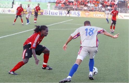 Osei Telesford #5 in action for T&T.