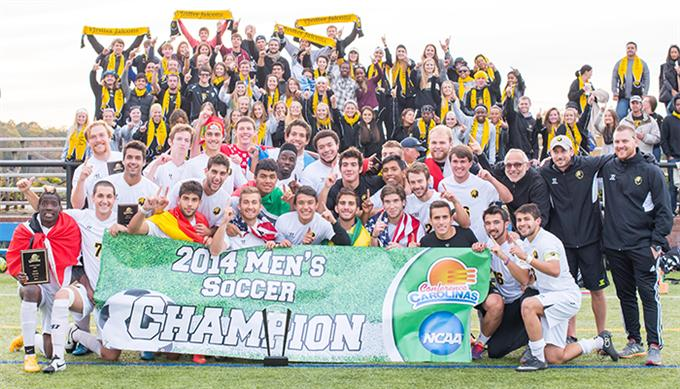 Nathan Regis with Pfeiffer University (2014 Carolinas Conference Champions)