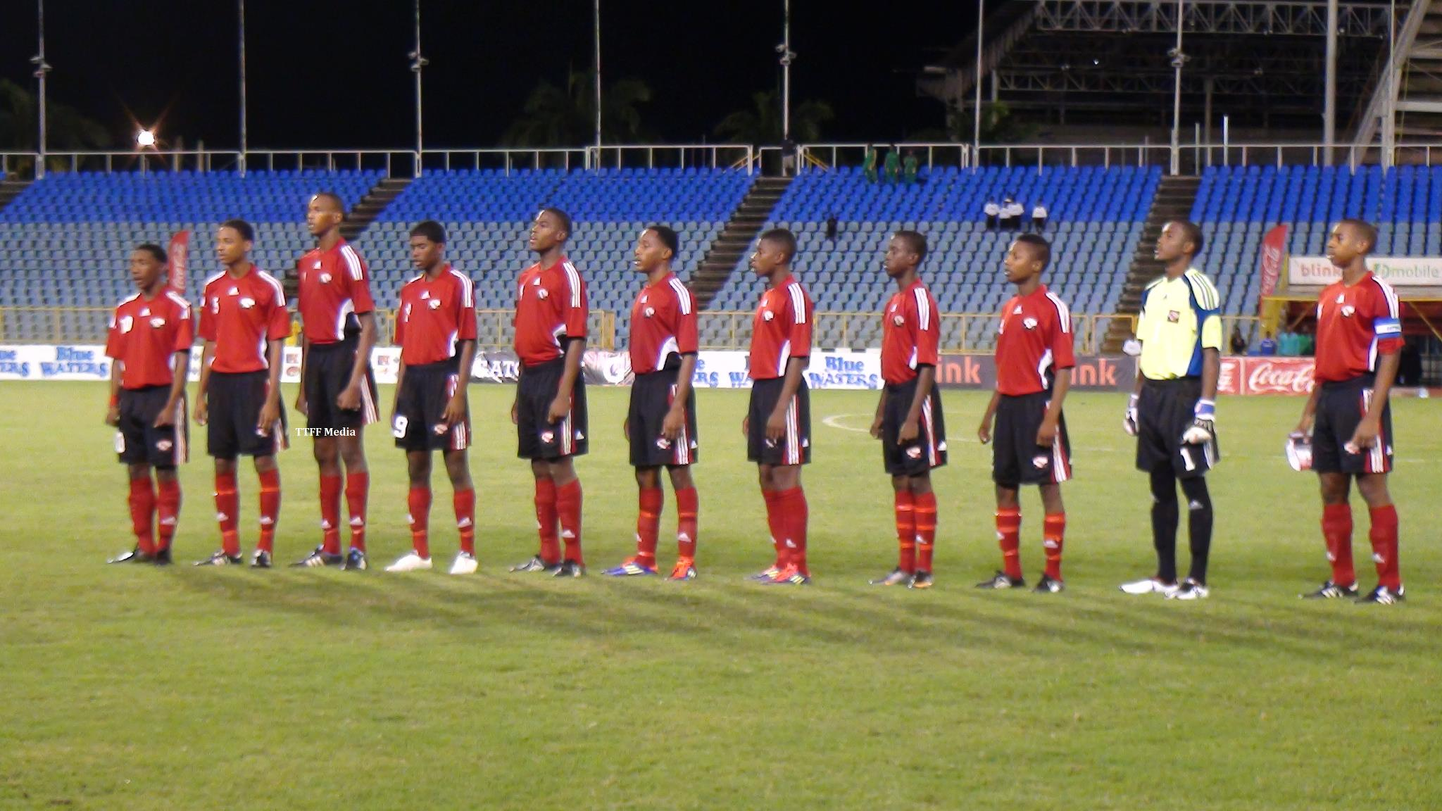 T&T U-17 line-up before match (TTFF Media)....