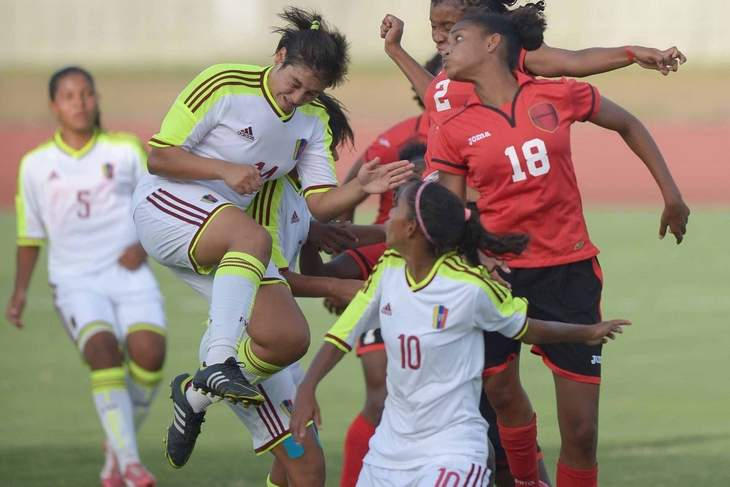 U-17 women get set piece lesson from Venezuela.  (Photo by Dexter Phillip shows action from the T&T vs Venezuela match)
