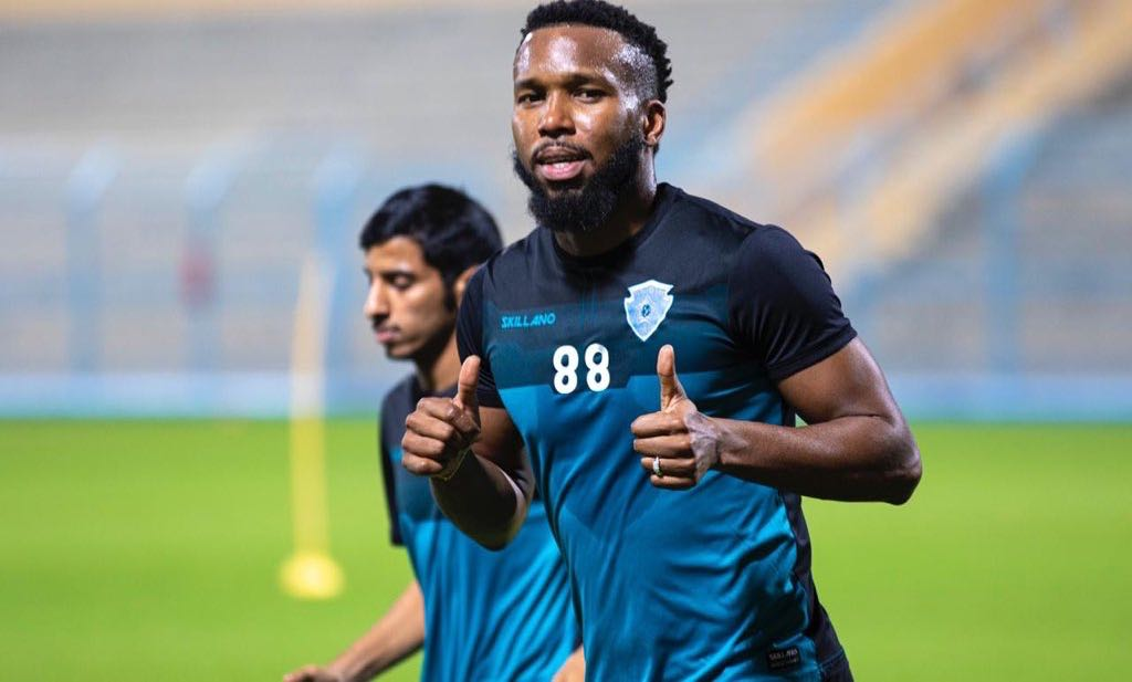 Khaleem Hyland training with with new team Al-Batin F.C..