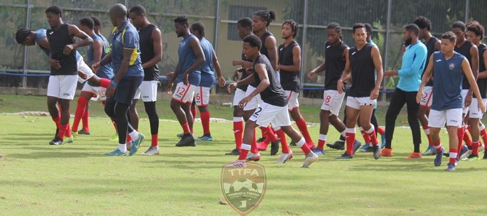T&T team training at the Diego Martin Sporting Complex.