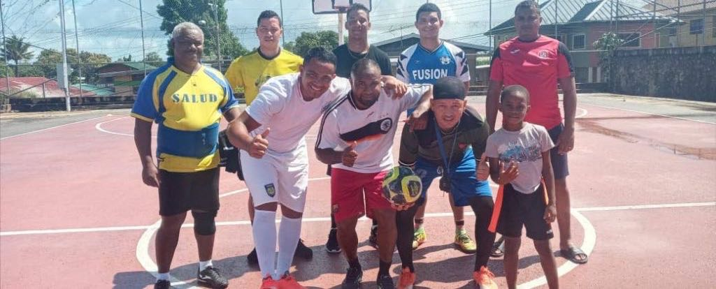 One of the Venezuelan teams in Siparia is preparing to participate in the futsal tournament. - Grevic Alvarado