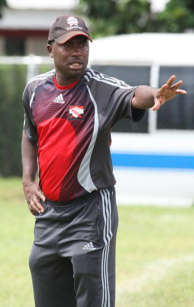 Trinidad and Tobago Olympic Men's team head coach Angus Eve