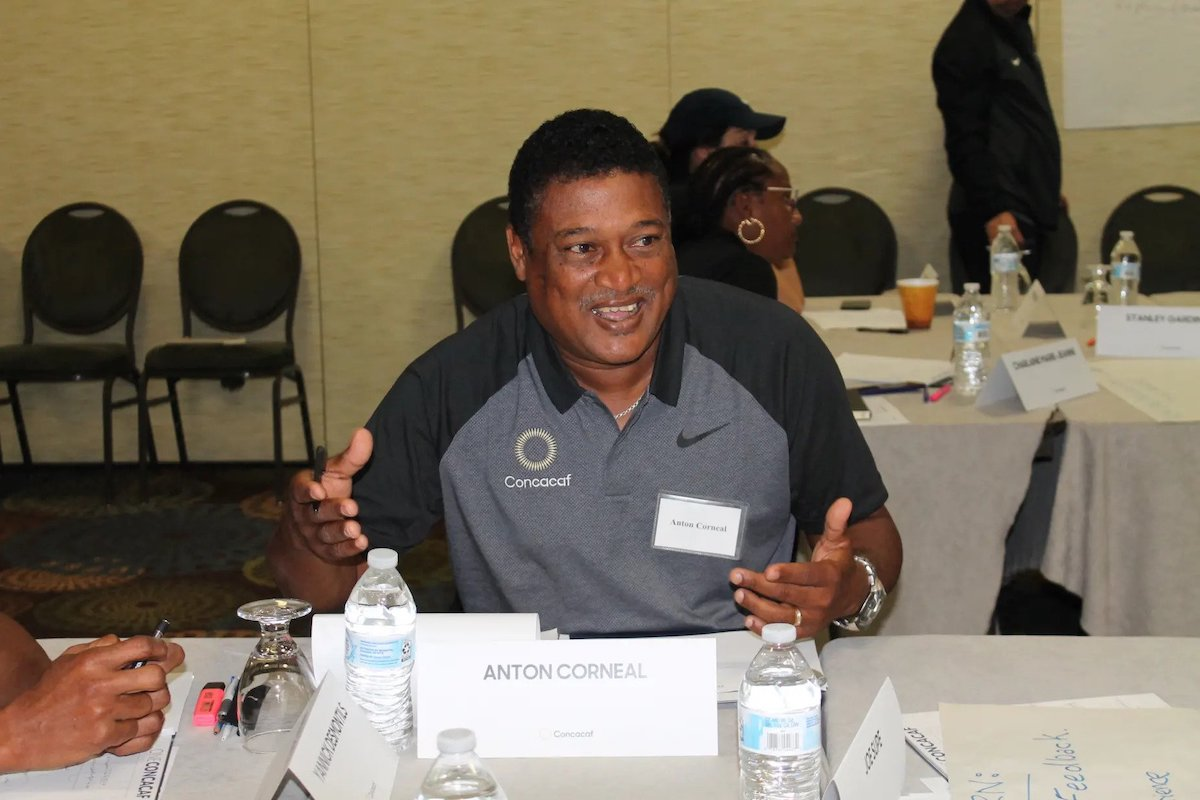 Anton Corneal attending a Concacaf Coaching Education course in Sunrise, Florida in February 2019.
