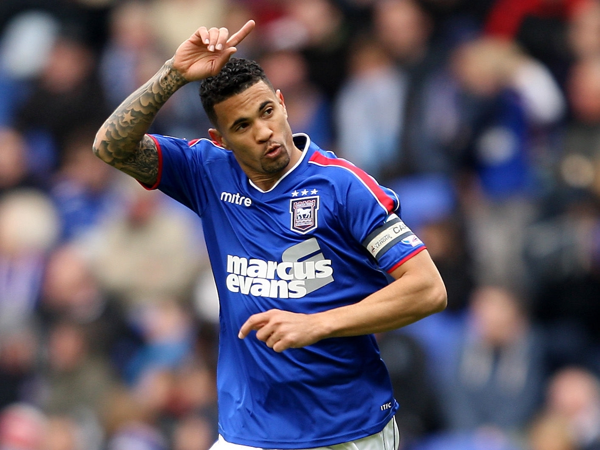Ipswich Town's Carlos Edwards celebrates scoring his sides first goal against Birmingham City at Portman Road, Ipswich, Suffolk, England on April 27th 2013. (Photo by Stephen Pond - PA Images via Getty Images)