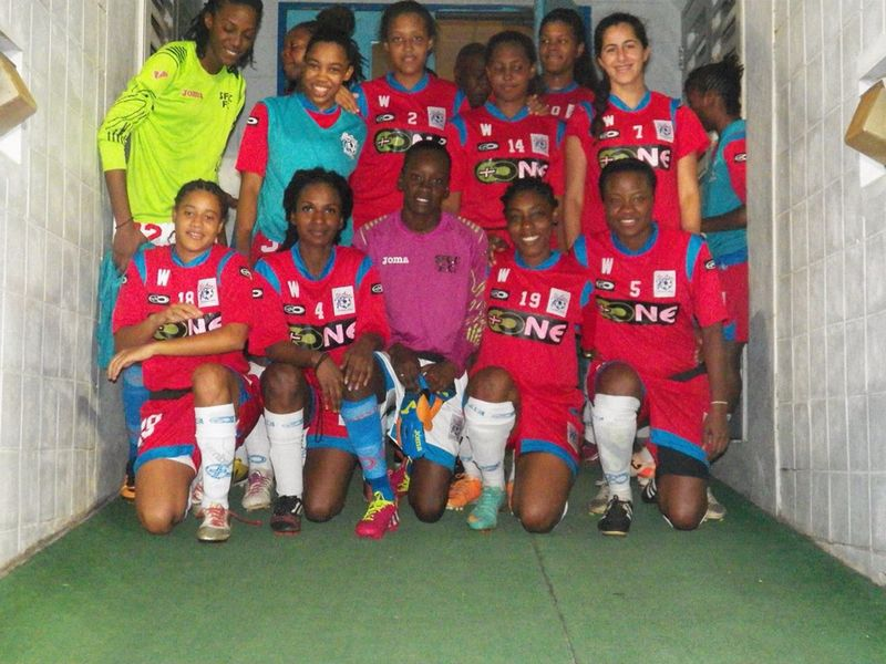 Members of the St. Ann's Rangers FC Women's 2014 TT WoLF Premier Division title winning squad.