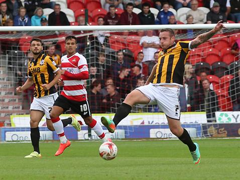 Chris Birchall vs Doncaster Rovers on August 16, 2014