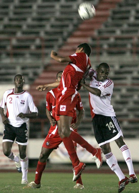 Pro League top-scorer Kerry Baptiste (#14) among eight 'locals' on T&T squad for WCQ