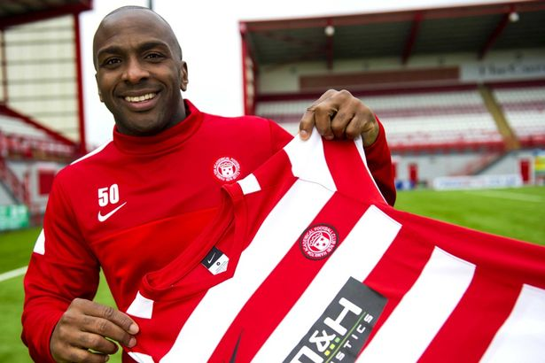 Jason Scotland unveiled at Hamilton Academical