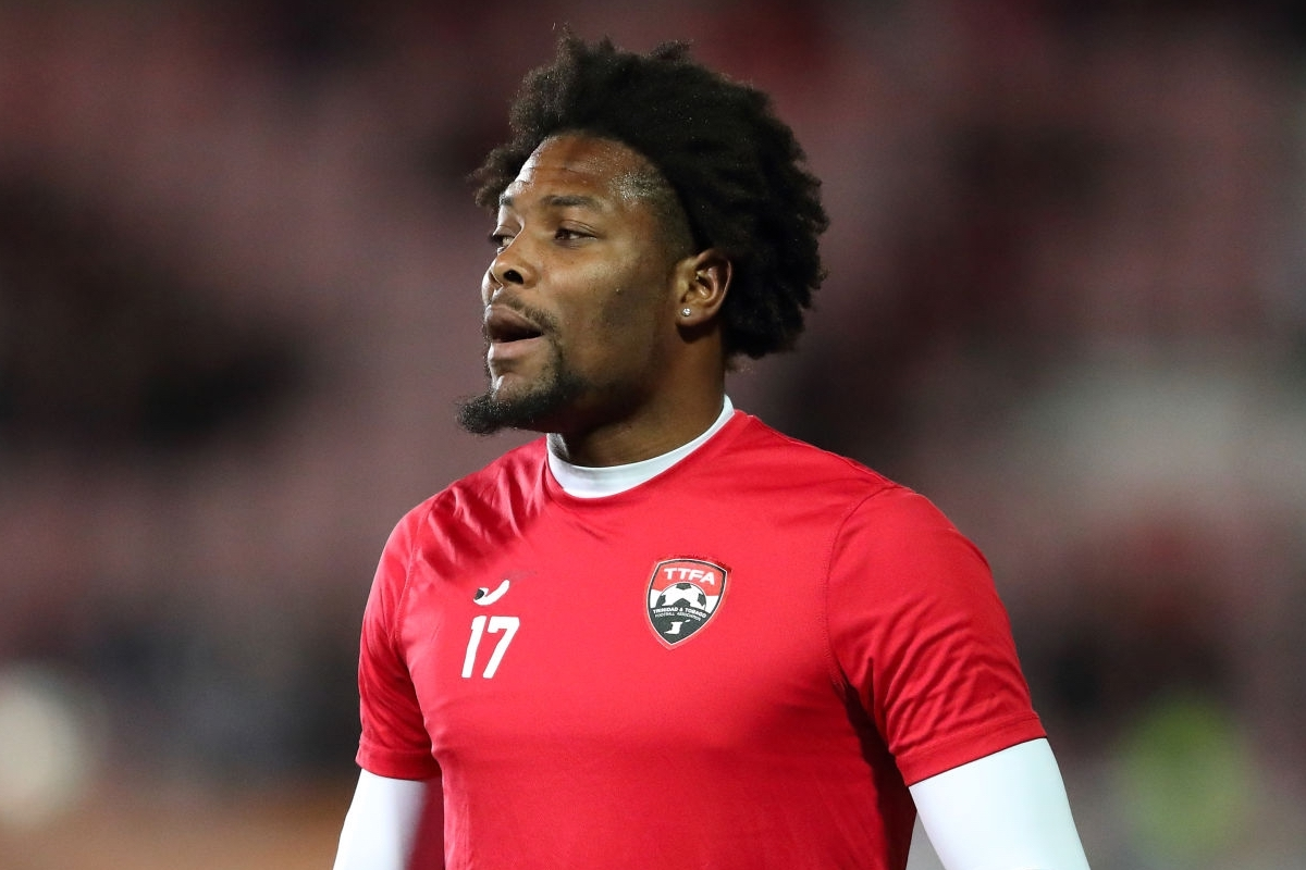Mekeil Williams of Trinidad and Tobago during the International Friendly between Wales and Trinidad and Tobago at Racecourse Ground on March 20, 2019 in Wrexham, Wales. (Photo by James Williamson - AMA/Getty Images)